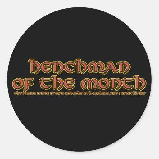 Henchman of the Month Joke Stickers