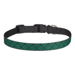 Henderson Clan Bright Green, Blue and Black Tartan Pet Collar