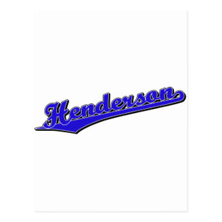 Henderson en azul tarjetas postales