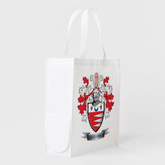 Henderson Family Crest Coat of Arms Reusable Grocery Bag
