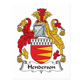 Henderson Family Crest Postcard