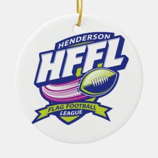 Henderson Flag Football League Double-Sided Ceramic Round Christmas Ornament