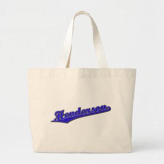Henderson in Blue Jumbo Tote Bag