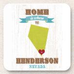 Henderson, mapa de Nevada - casero es donde está e Posavasos De Bebida