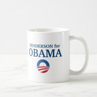 HENDERSON para el personalizado de Obama su ciudad Taza