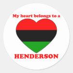 Henderson Pegatina Redonda