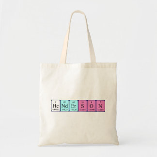 Henderson periodic table name tote bag