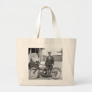 Henderson Police Motorcycle, 1922 Jumbo Tote Bag