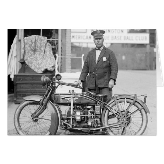 Henderson Police Motorcycle, 1922 Card