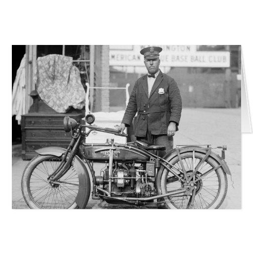 Henderson Police Motorcycle, 1922 Greeting Card