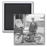 Henderson Police Motorcycle, 1922 2 Inch Square Magnet