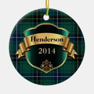 Henderson Tartan Plaid Custom ornament