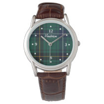 Henderson Tartan Plaid Faced Custom Watch