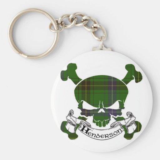 Henderson Tartan Skull Keychain