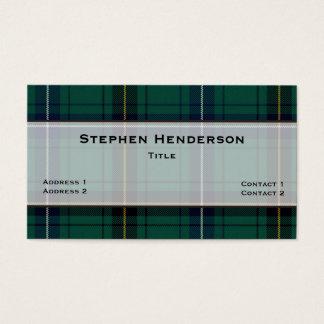 Henderson Teal Tartan Plaid Custom Business Card