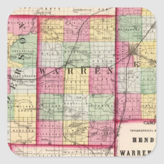Henderson, Warren, Knox counties Square Stickers