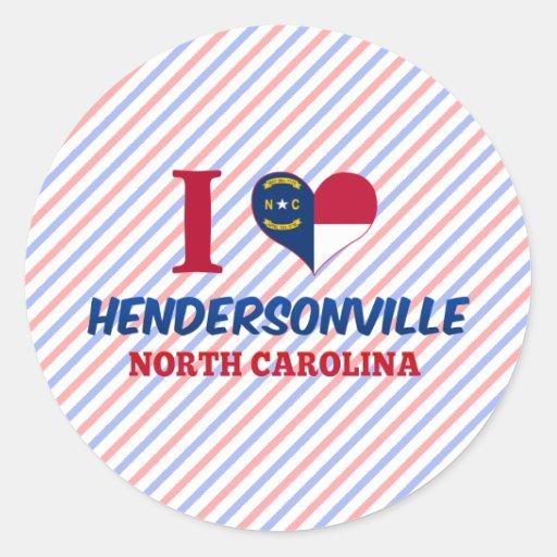 Hendersonville, Carolina del Norte Pegatina Redonda