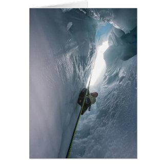 Hendidura de Juneau Icefield (espacio en blanco Tarjeta De Felicitación