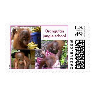 Hendidura de la escuela de la selva de los bebés estampillas
