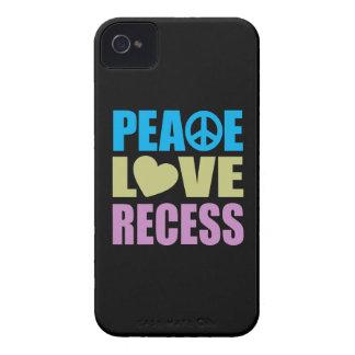Hendidura del amor de la paz iPhone 4 cárcasa