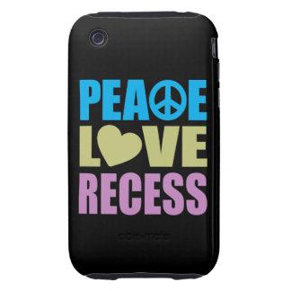 Hendidura del amor de la paz tough iPhone 3 cárcasas
