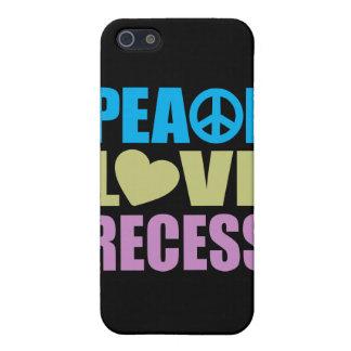 Hendidura del amor de la paz iPhone 5 carcasas