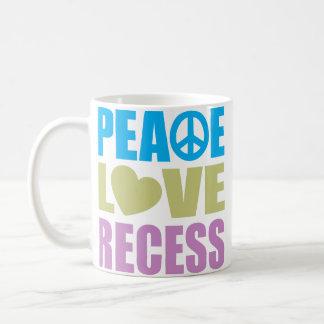 Hendidura del amor de la paz taza