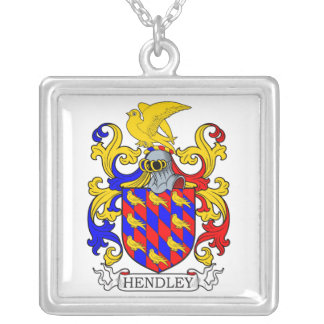 Hendley Coat of Arms IV Square Pendant Necklace