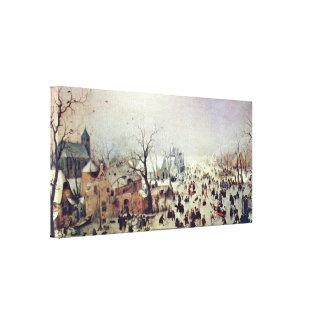 Hendrick Avercamp - winter landscape Canvas Print