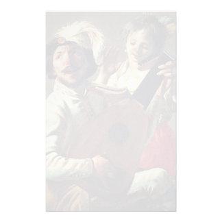 Hendrick Terbrugghen- Duet Personalized Stationery