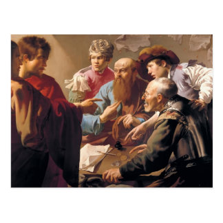 Hendrick Terbrugghen- la llamada de St Matthew Postal
