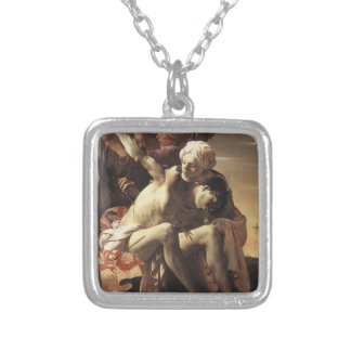 Hendrick Terbrugghen-St. Sebastian Tended by Irene Silver Plated Necklace
