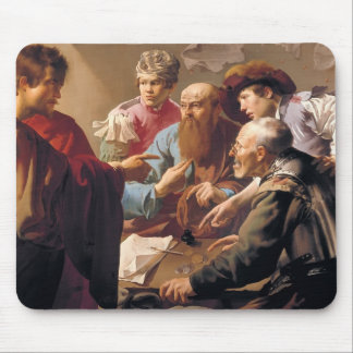 Hendrick Terbrugghen- The Calling of St. Matthew Mouse Pad