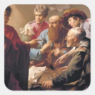 Hendrick Terbrugghen- The Calling of St. Matthew Stickers