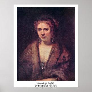 Hendrickje Stoffels de Rembrandt Van Rijn Posters