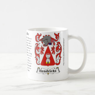 Hendricks, the origin, meaning and the crest coffee mug
