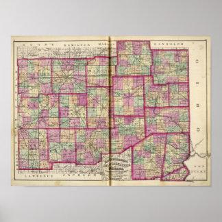 Hendrickson County and Marion County Print