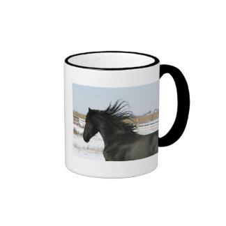 Hendrik Black Friesian Mug