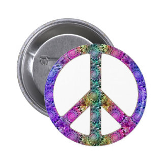 Hendrix on Peace 2 Inch Round Button
