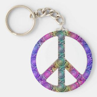 Hendrix on Peace Basic Round Button Keychain