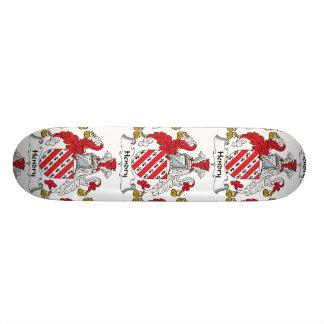 Hendry Family Crest Custom Skate Board
