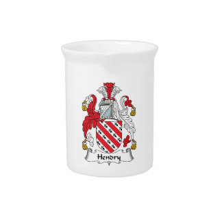 Hendry Family Crest Drink Pitcher