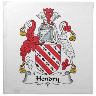 Hendry Family Crest Napkin