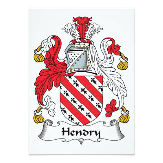 Hendry Family Crest Personalized Invitations
