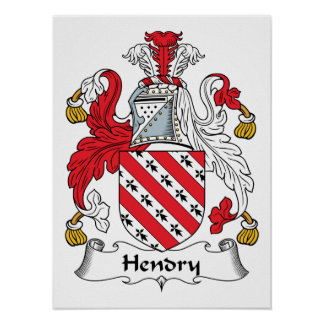 Hendry Family Crest Posters