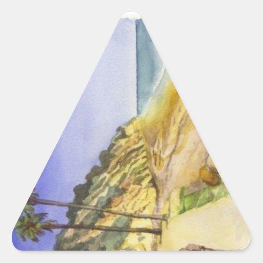 Hendry's Beach Triangle Sticker