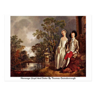Heneage Lloyd And Sister By Thomas Gainsborough Postcard