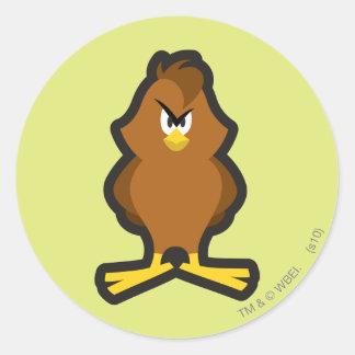 Henery Hawk 2 Round Stickers
