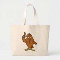 Henery Hawk Yelling Large Tote Bag