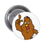 Henery Hawk Yelling Pinback Buttons
